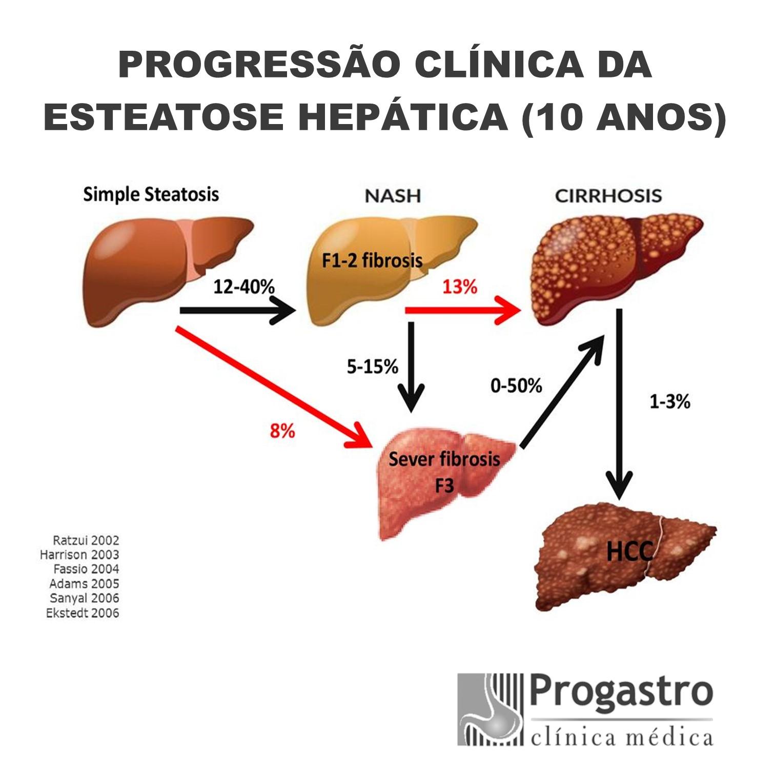 Esteatose_Hepática_Progressão